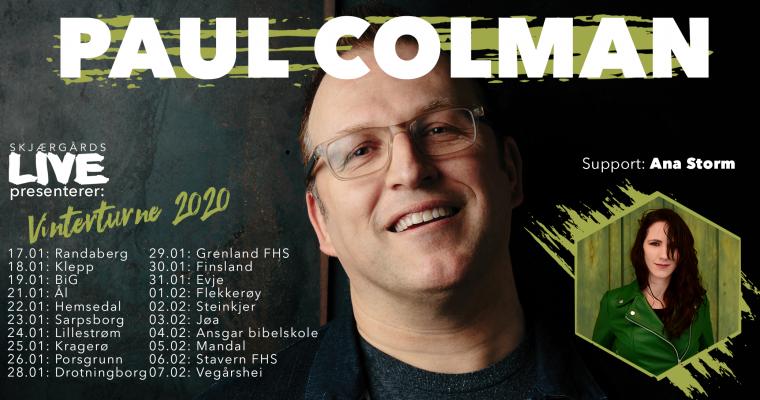 Turnélista for vinterturneen med Paul Colman er klar